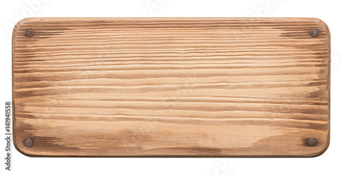 Rustic wood board with nails - 141941558