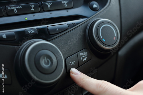 Car air conditioner service.