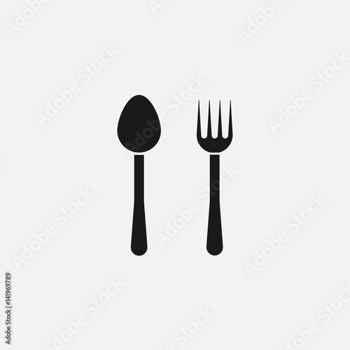 Fork and Spoon icon Vector.