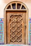 porte décoré maison marocaine - 141984936