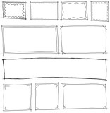 frames hand-drawn set vector - 142004314