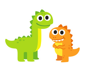 Cute cartoon dinosaurs © sudowoodo