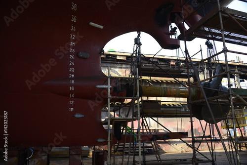 Fotobehang Schip Ship repair