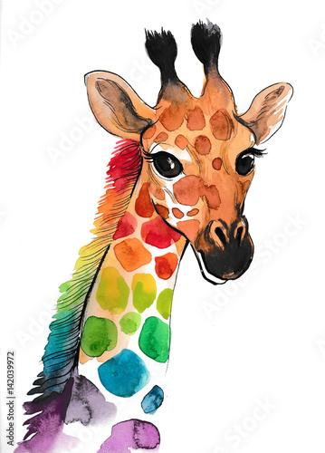 Colorful giraffe - 142039972