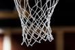 Basketball net closeup