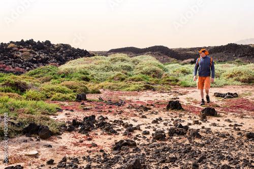 Poster randonnée dans le désert