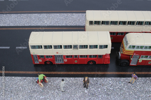 Poster Classic London Bus model isolated