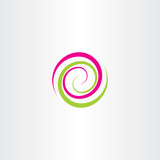 swirl spiral tech logo wave icon vector design element - 142106789