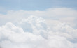 white bright cotton clouds background with blue sky