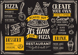Pizza menu restaurant, food template. - 142113941
