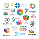 Abstract vector elements for logo design - 142128995