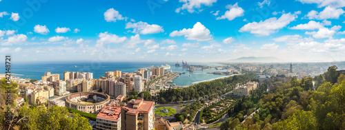Aluminium Panoramic view of Malaga