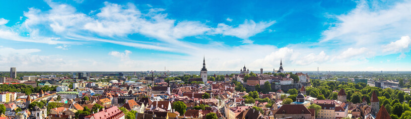 Aerial View of Tallinn and Toompea Hill
