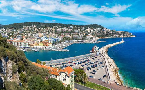 Aluminium Panoramic view of port in Nice