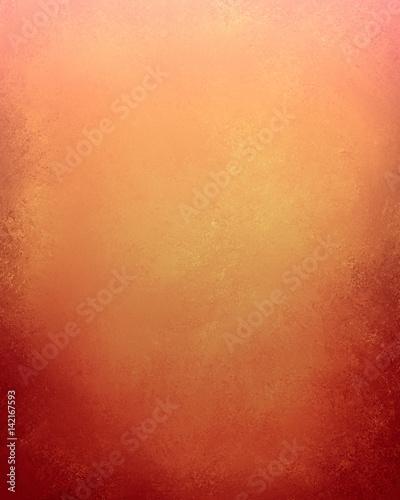 Autumn Background Design Warm Orange Color With Red Grunge On Bottom Border Elegant Thanksgiving