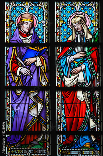 Stained Glass - Saint Prosper and Ludmilla Poster