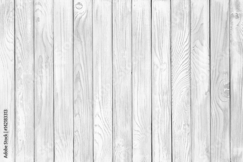 Background of weathered painted white wooden plank. Seamless - 142183313