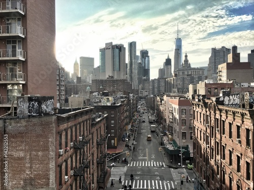 Foto op Aluminium New York Financial disctrict New York from Manhattan Bridge