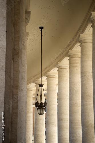 Poster Bernini's colonnade Details
