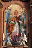 Saint Martin altarpiece in Parish Church of Saint Martin in Martinska Ves, Croatia on June 03, 2011. - 142236390