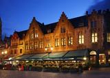 Markt - Market square in Bruges. Belgium