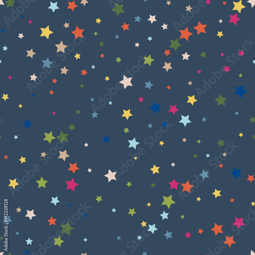 Cute seamless pattern with stars. Vector