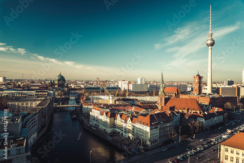 Panoramic view in Berlin, Germany