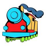 Locomotive icon, icon cartoon - 142275726