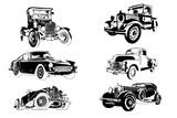 classic vintage retro car , vector design