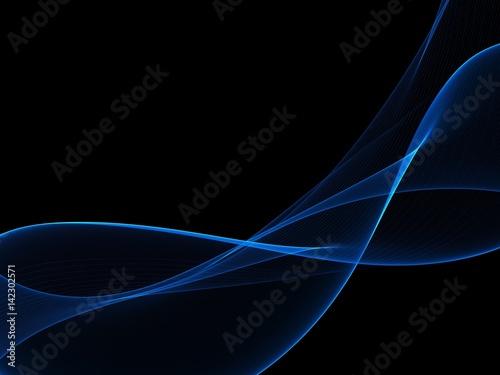 Dark Abstract Waves Background