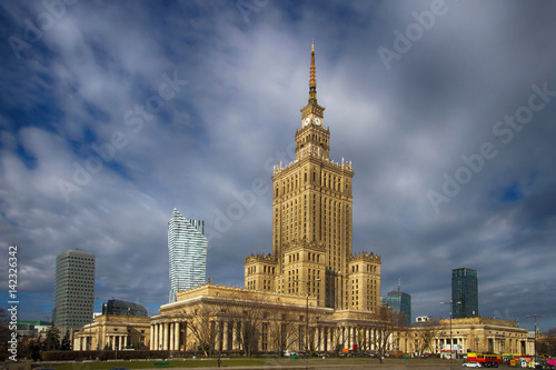 Panorama of Warsaw with Palace of Culture and Science