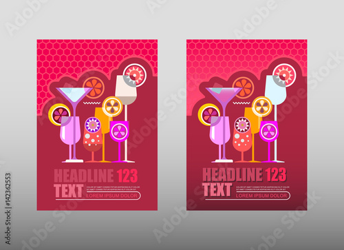 In de dag Abstractie Art Cocktail Party Poster Templates