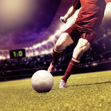soccer football player background  - 142367770