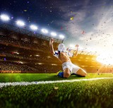soccer football player background  - 142367799