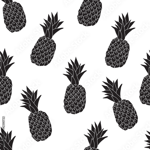 Seamless pattern from pineapples, a pattern for a fruit background