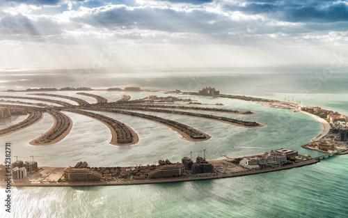 Papiers peints Dubai Aerial view of Dubai Palm Jumeirah Island, UAE