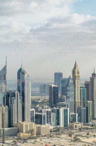 Poster Aerial view of Dubai cityscape, UAE
