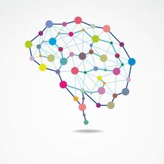 Creative brain concept - colorful © tatoman