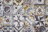 Colorful Moroccan tiles, ornaments, mosaic floor texture - 142408180