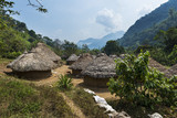 Kogi village in the forest in the Sierra Nevada de Santa Marta in Colombia - 142408565
