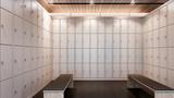 Luxury locker room in gym , 3d rendering - 142420381