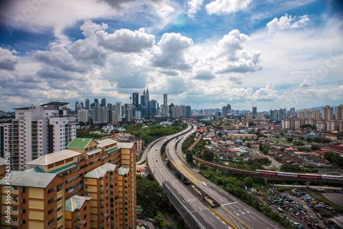 Aerial Photo - Clouds at Kuala Lumpur City.
