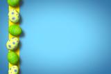 Fototapeta Ostereier auf blauem Hintergrund / Ostern!