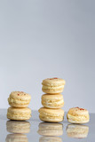 French cheese macaroons with safron on the top