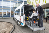 Wheelchair taxi pick up - 142476796