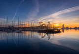 Barcelona Port Vell with Sailboat