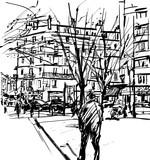 People walking in a street of Paris