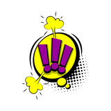 Fototapety Lettering exclamation point comic text