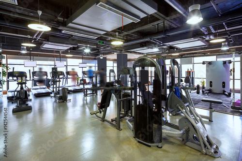 Póster interior of modern gym
