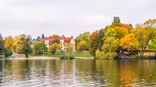 Plexiglas Stockholm The scenic view along Lake Mälaren